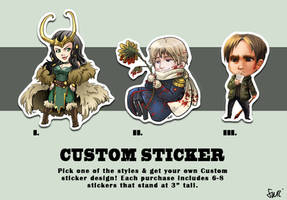 Custom Stickers! by oneoftwo