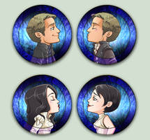 Comish OTPins Snow and Charming
