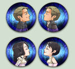 Comish OTPins Snow and Charming by oneoftwo