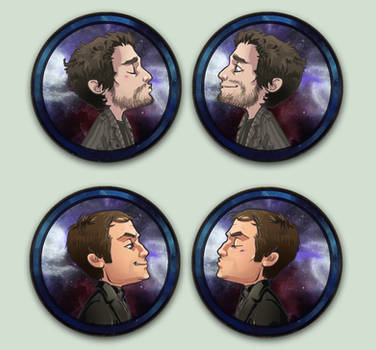 Comish OTPins Crowley and Chuck by oneoftwo