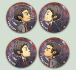Comish - OTPins Dojima Adachi by oneoftwo