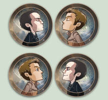Comish - OTPins - Moriarty Moran by oneoftwo