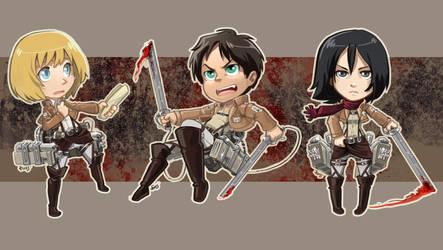 Attack on Titan stickers