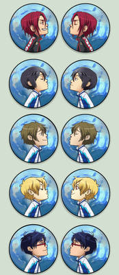 Swimming anime Otpins