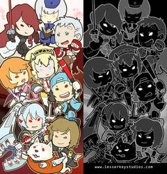 Persona 3 glitter bookmark by oneoftwo