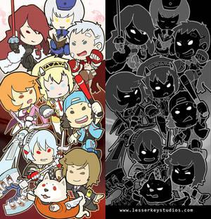 Persona 3 glitter bookmark