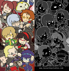Persona 4 arena bookmark by oneoftwo