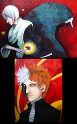 Bleach paintings