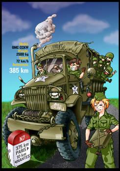 GMC CCKW army truck WWII mekolaio meko tanuki