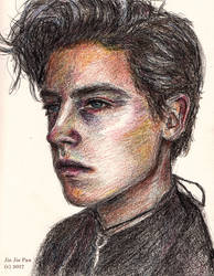 Cole Sprouse coloured