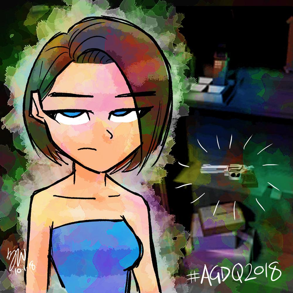 AGDQ GamesDrawnQuick: RE3 by lazytigerart