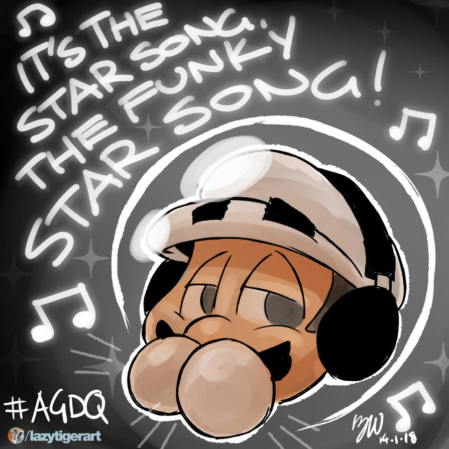 AGDQ GamesDrawnQuick: That Funky Star Song by lazytigerart