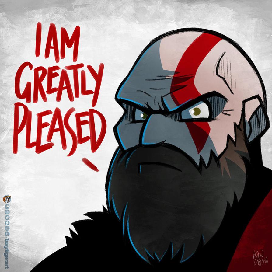 Kratos is pleased by lazytigerart