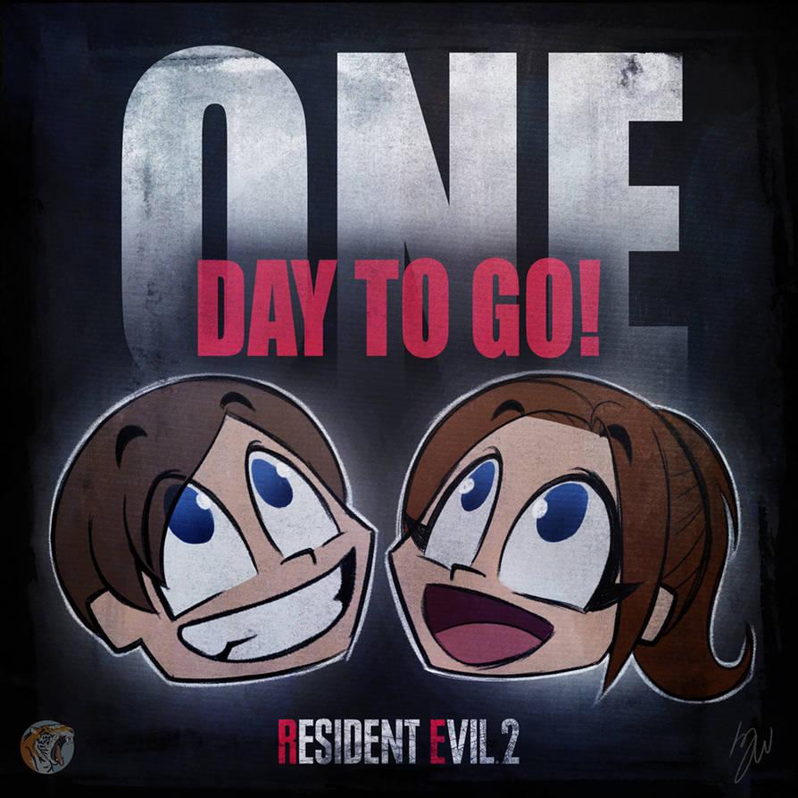RE2 Countdown 1day by lazytigerart