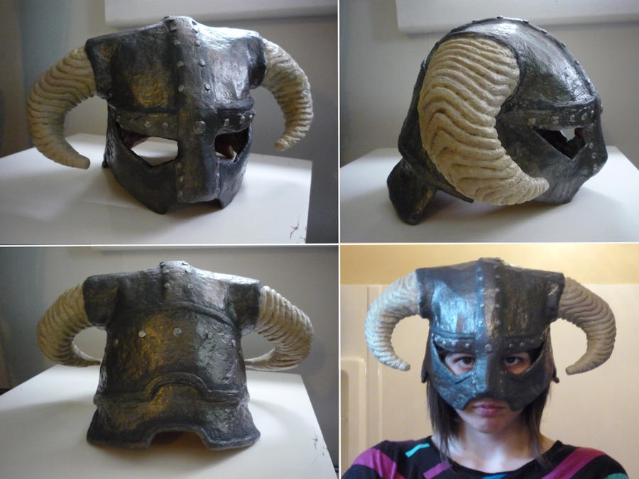Skyrim iron helmet by cloudstrife597