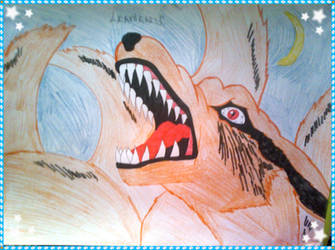 Kurama - Nine Tailed Fox by LeanneArts