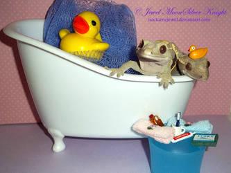 MOCHA AND CADBURY'S BATH 2 by Heather-Chrysalis