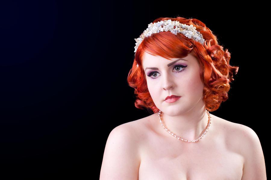 Vintage Bridal Redhead