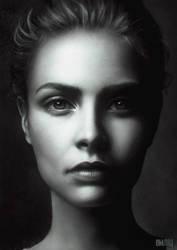 Cara Delevigne Study by OmarDiazArt