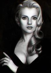 Black and White Bust Study by OmarDiazArt