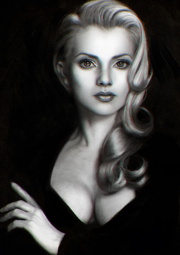 Black and White Bust Study by Dark-Adon