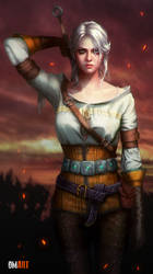 Ciri The Witcher III Fanart by OmarDiazArt