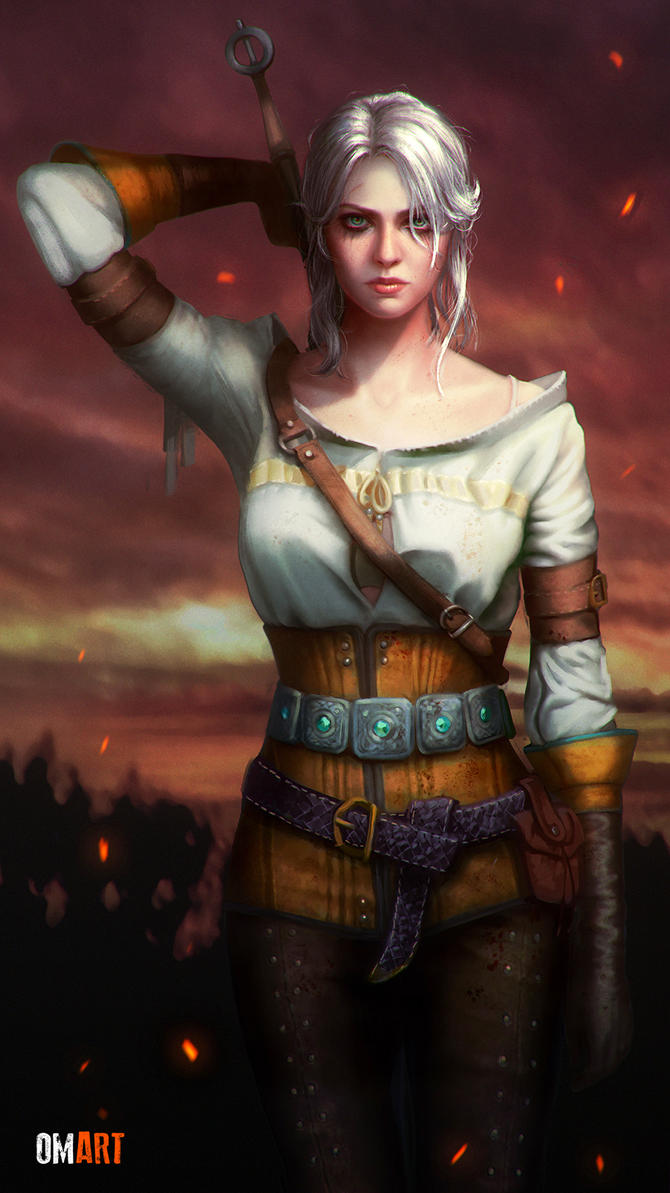 Ciri The Witcher III Fanart by OmarDiazArt