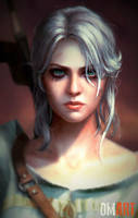 Ciri The Witcher III Fanart Closeup version