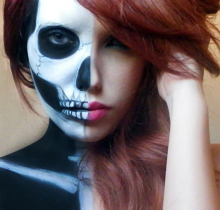 Half Skull Makeup By Marymakeup On DeviantArt