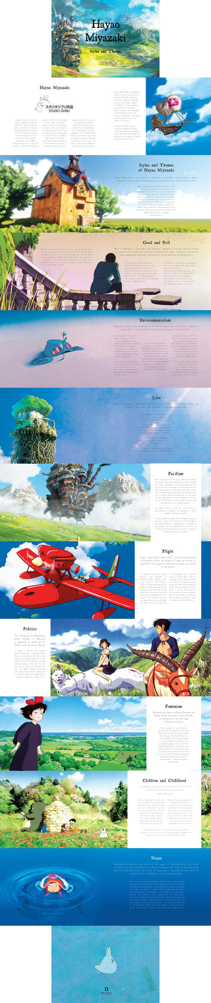 Hayao Miyazaki's brochure by RainiiDays