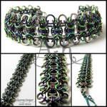 Rondo bracelet - stainless steel + multi ANb