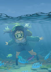 Nitori in the sea by kuro-oolong