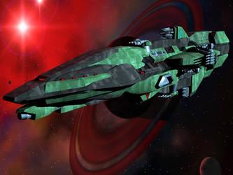 Tarresque Battle Cruiser 2 by DevilDalek