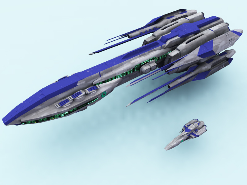 Territain Class Battle Cruiser by DevilDalek