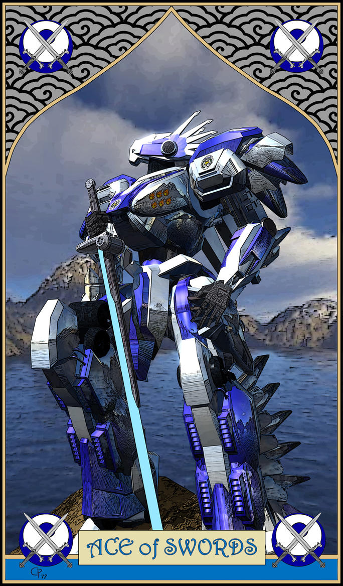 Mecha Tarot :- Ace of Swords by DevilDalek