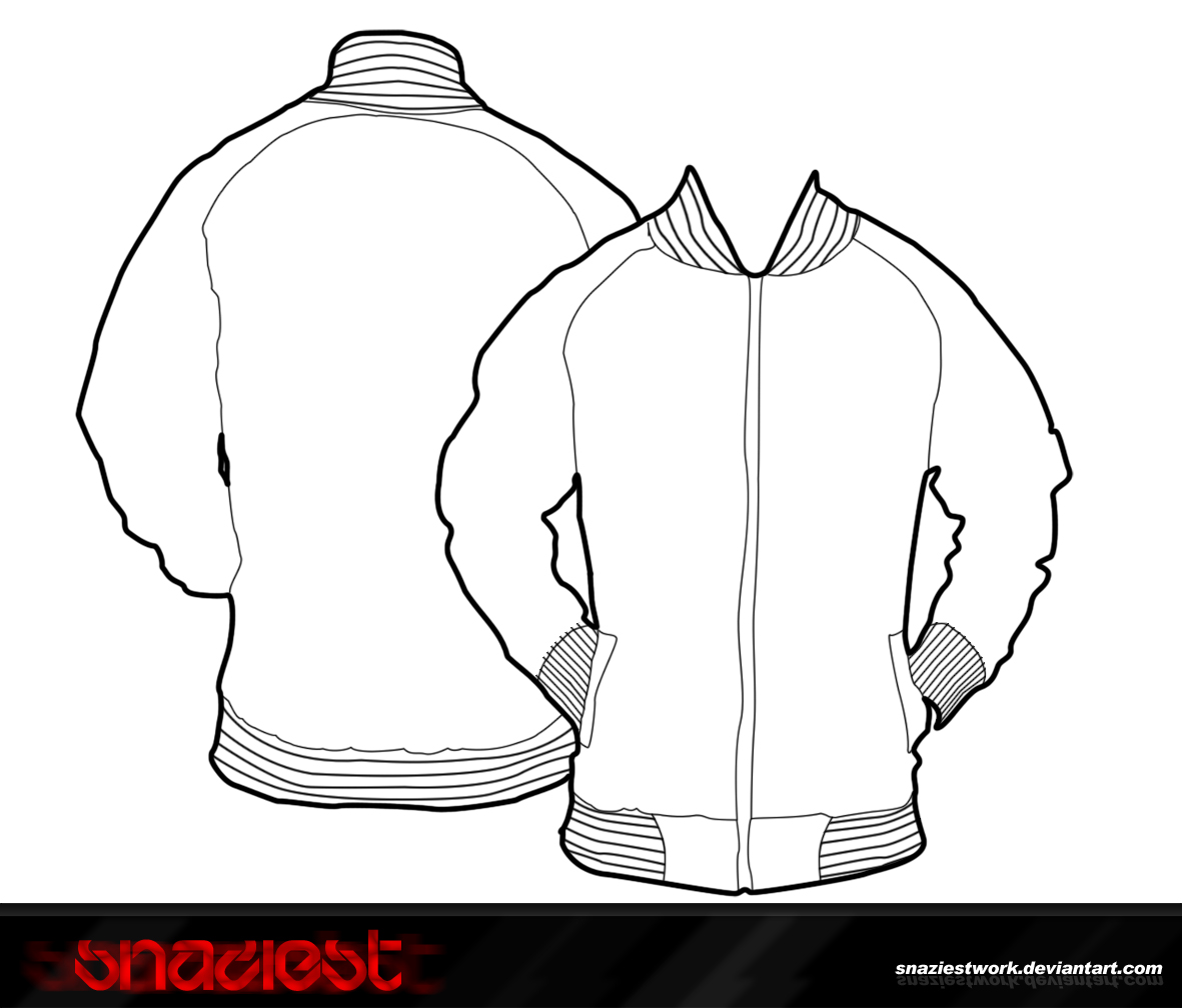 Fashion templates men front and back