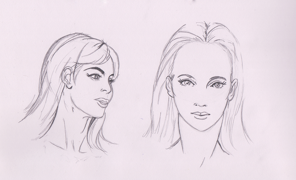 Female Face Studies  Part Two by kenrostudio