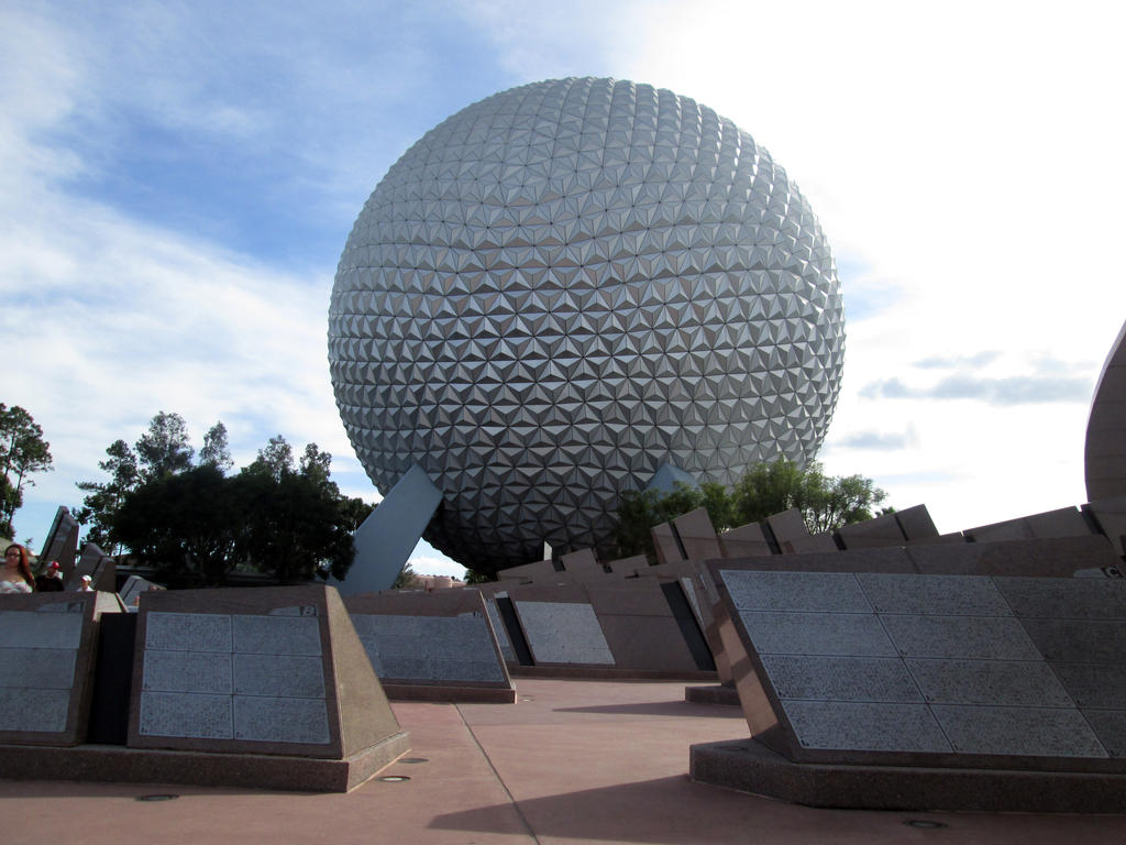 Giant Sphere at Epcot by kenrostudio