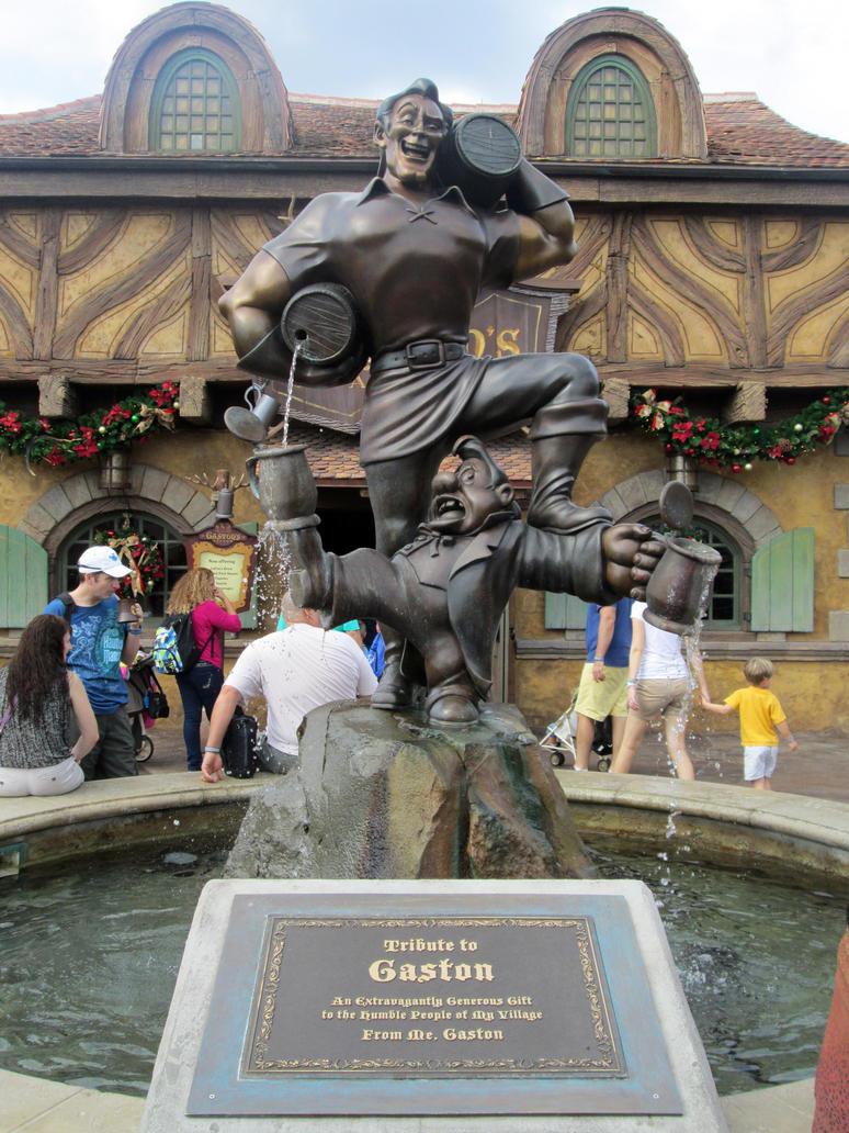 Gaston Statue by kenrostudio