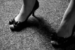 Rainy shoes by Buaha