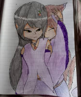 [nightmare and Priscilla] pat on the head by firefoxhuntergirl