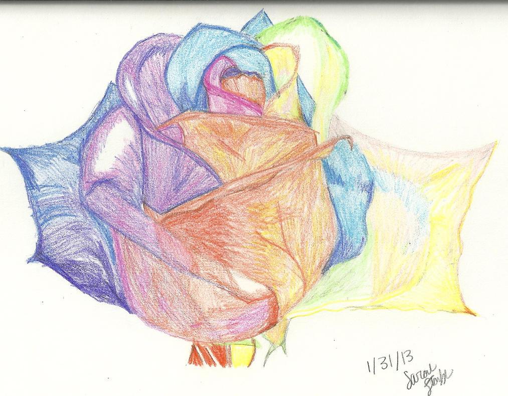 ... Rainbow Rose Tattoo , Rainbow Rose Wedding Bouquet , Single Rainbow Rainbow Rose Drawing