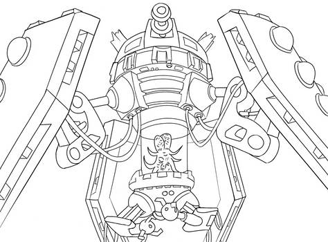 Colour-Your-Own Dalek Emperor by jinkies36