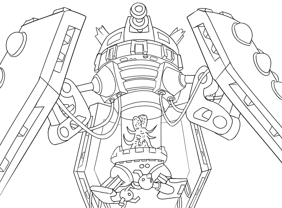 dalek coloring page - colour your own dalek emperor by jinkies36 on deviantart