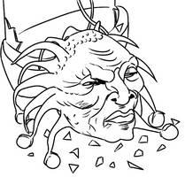 Colour-Your-Own Face of Boe