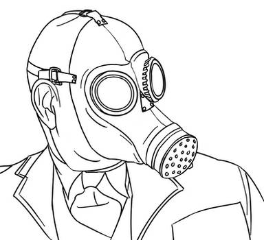 Colour-Your-Own Gasmask Zombie by jinkies36