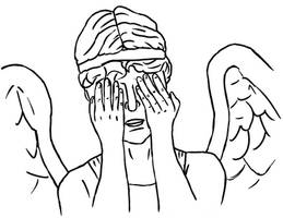 Colour-Your-Own Weeping Angel