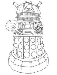 Colour-Your-Own Chibi Dalek by jinkies36