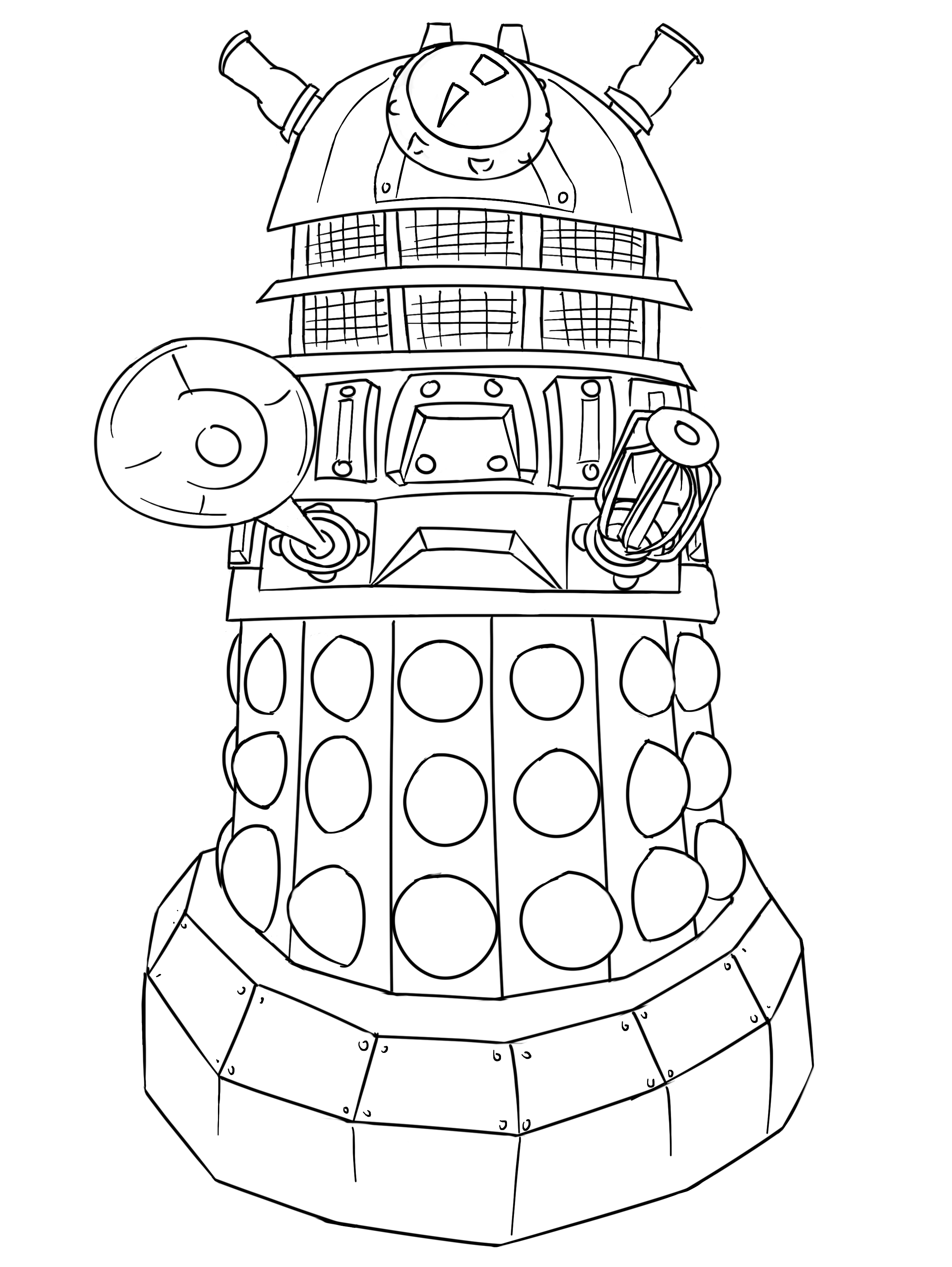 Share Coloring Pages Doctor Who
