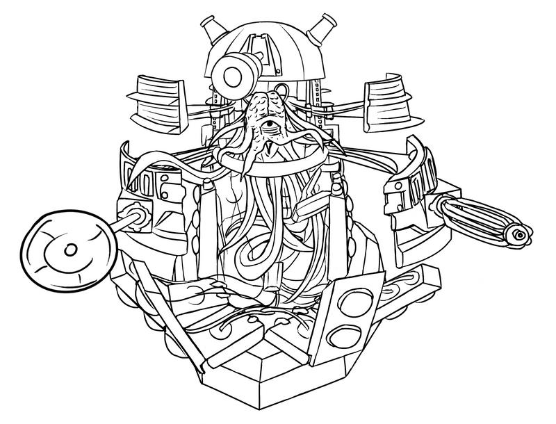 Colour-Your-Own Open Dalek Sec by jinkies36